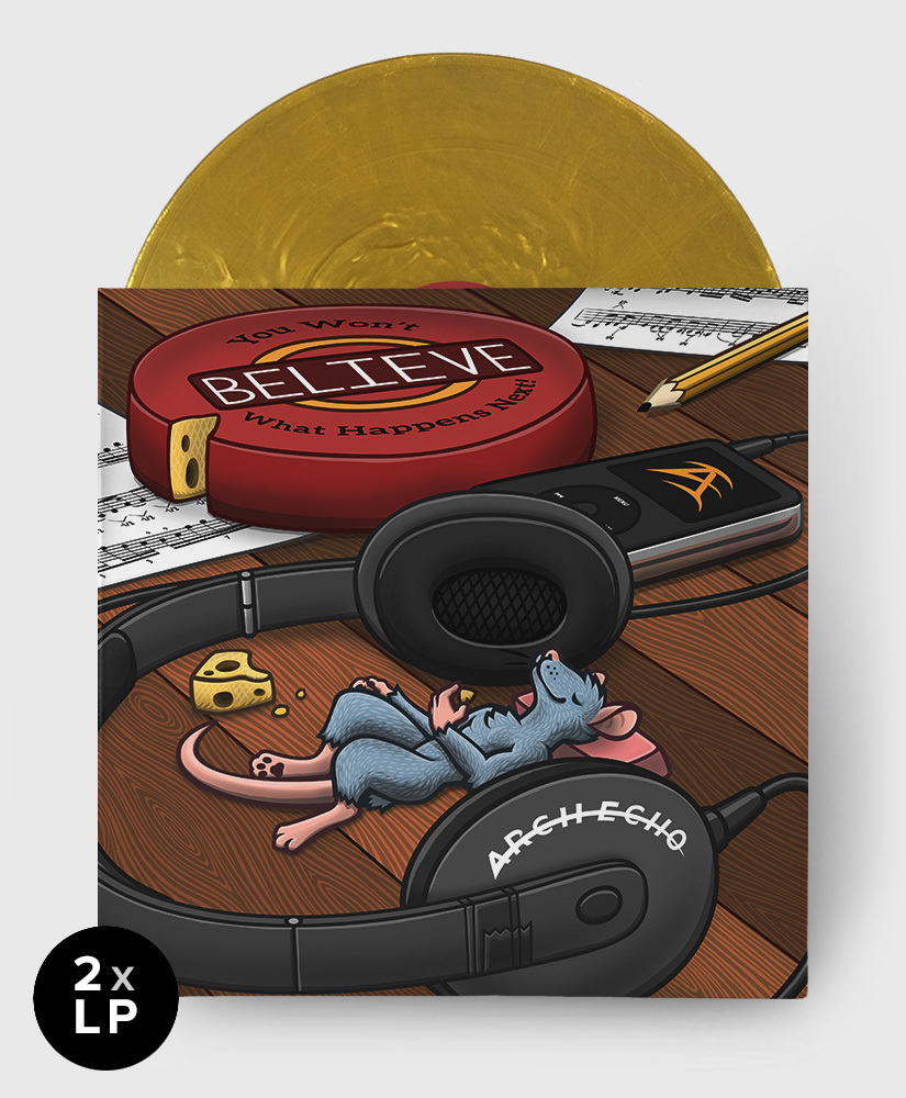 Arch Echo - You Won't Believe What Happens Next! - 2xLP Golden Cheese Wheel Vinyl (1st Pressing)