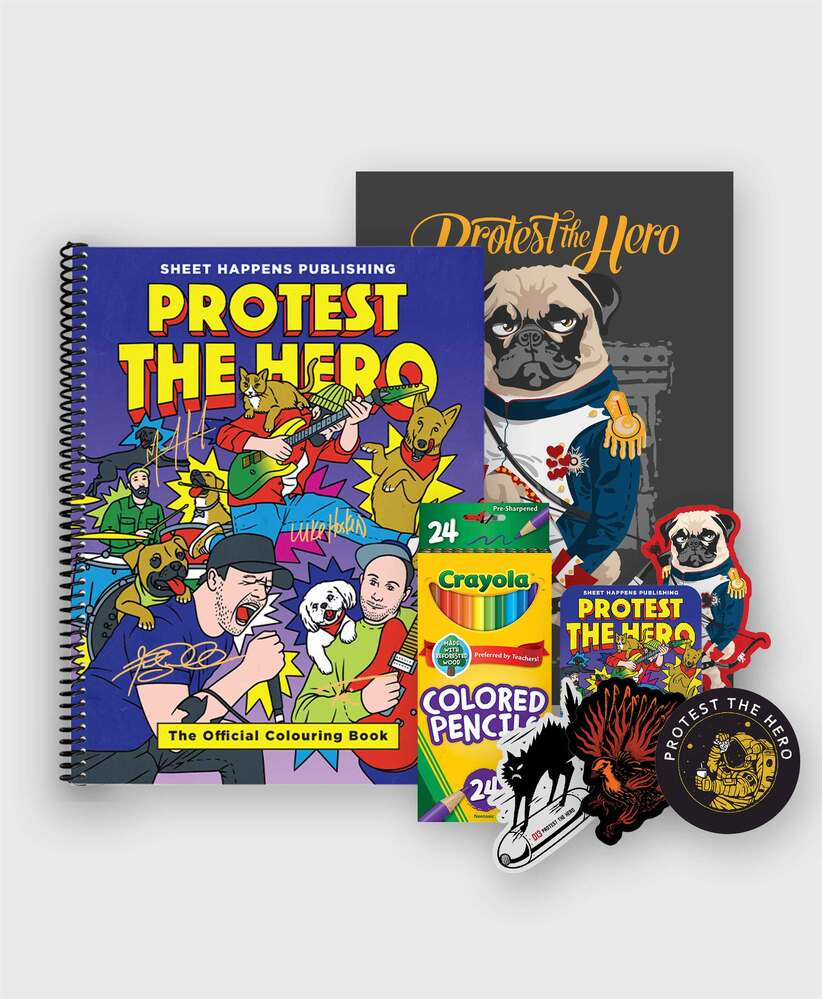 Protest The Hero - Deluxe Colouring Book Bundle - Deluxe SIGNED Book Bundle