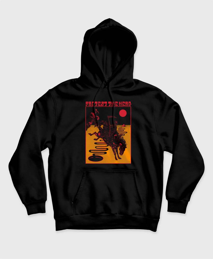 Protest The Hero - Death in Colour Hoodie - Black Hooded Sweatshirt