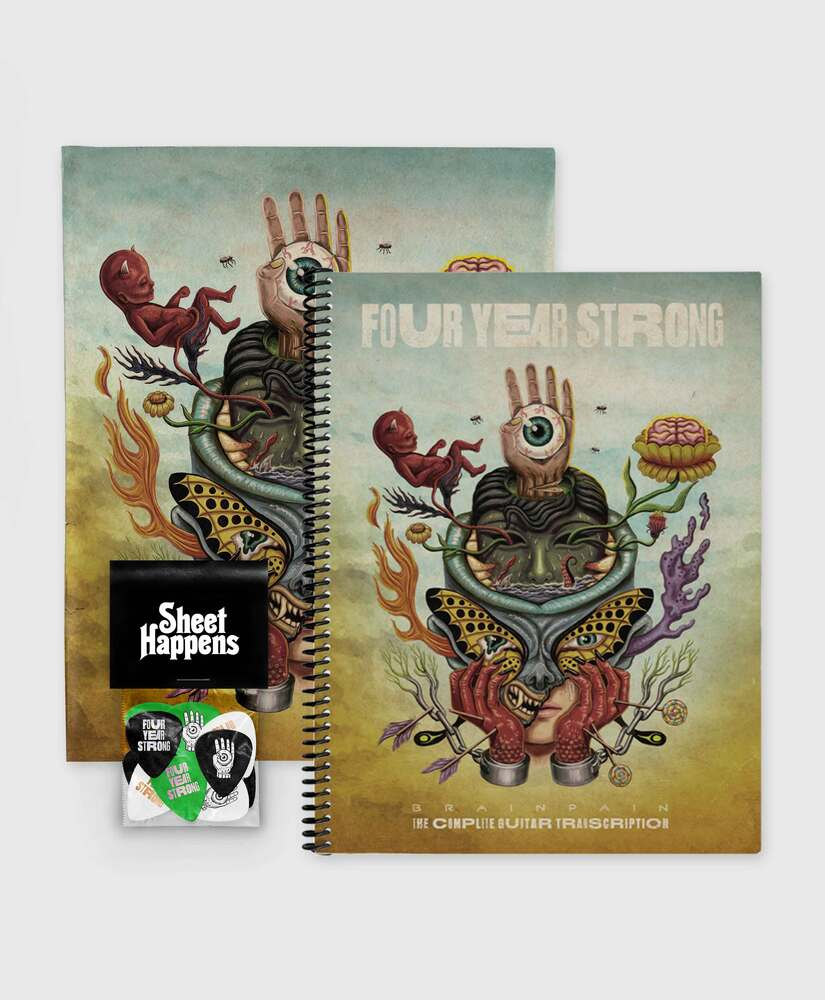 Four Year Strong - Brain Pain - Deluxe SIGNED Book Bundle