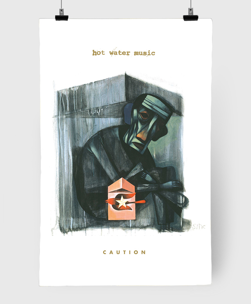 Hot Water Music - Caution - Limited Edition 11x17 Print