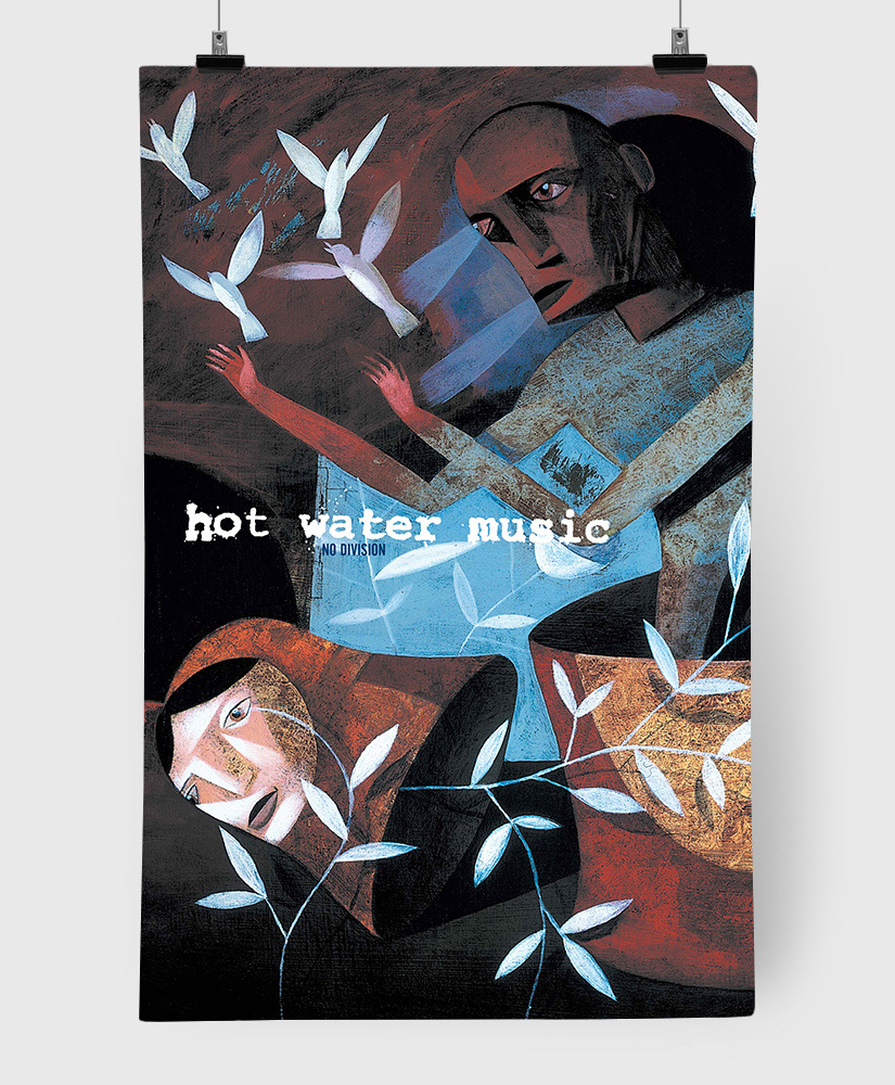 Hot Water Music - No Division - Limited Edition 11x17 Print