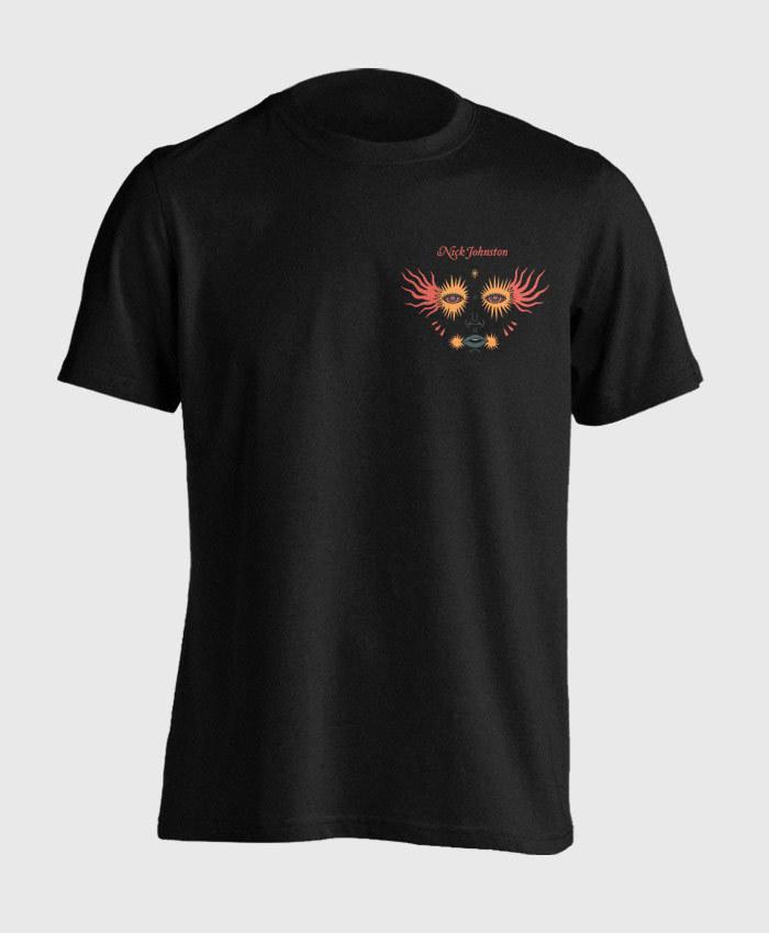 Nick Johnston - Wide Eyes T-Shirt - Cover Art Crest Tee
