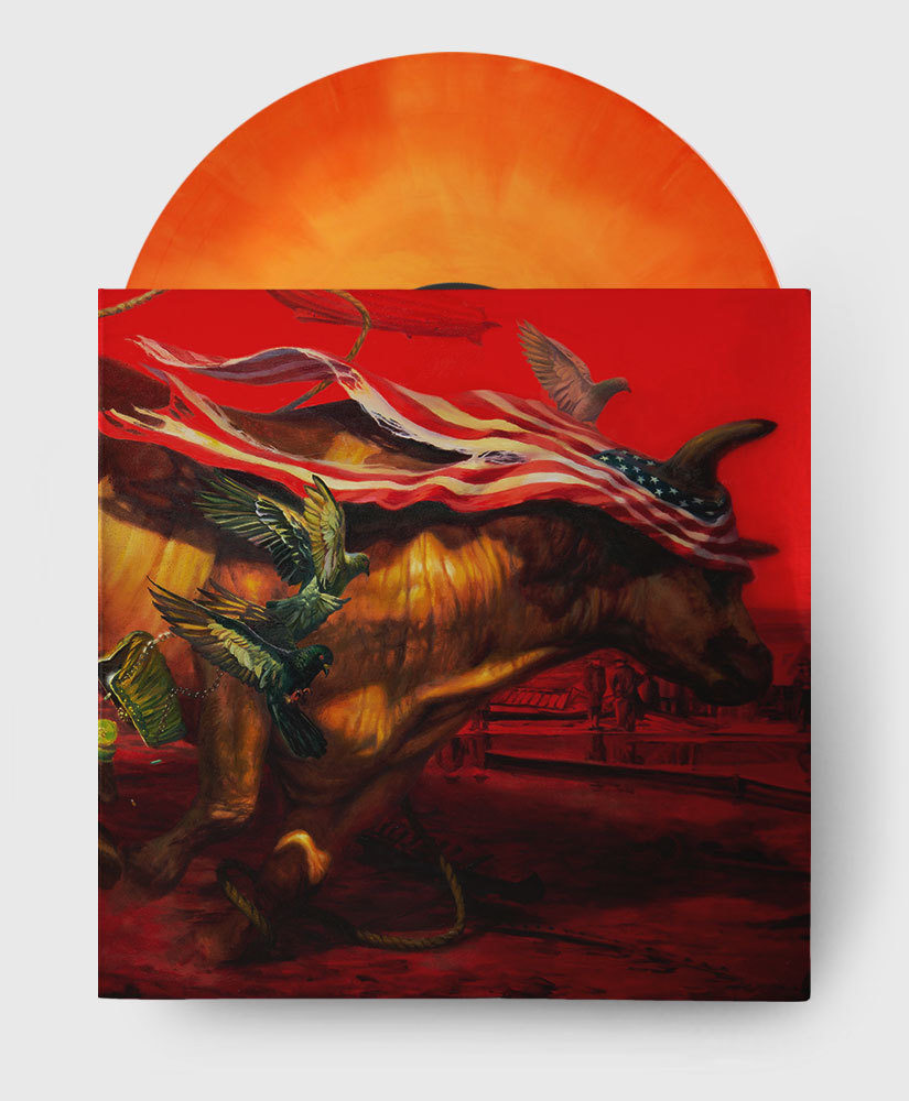 Protest The Hero - Palimpsest - Opaque Orange Galaxy Vinyl