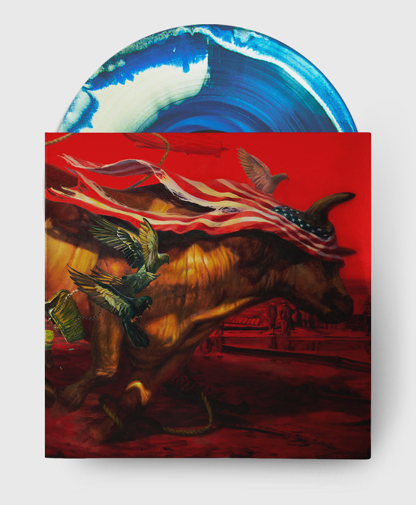 Protest The Hero - Palimpsest - Blue + White A Side B Side Vinyl