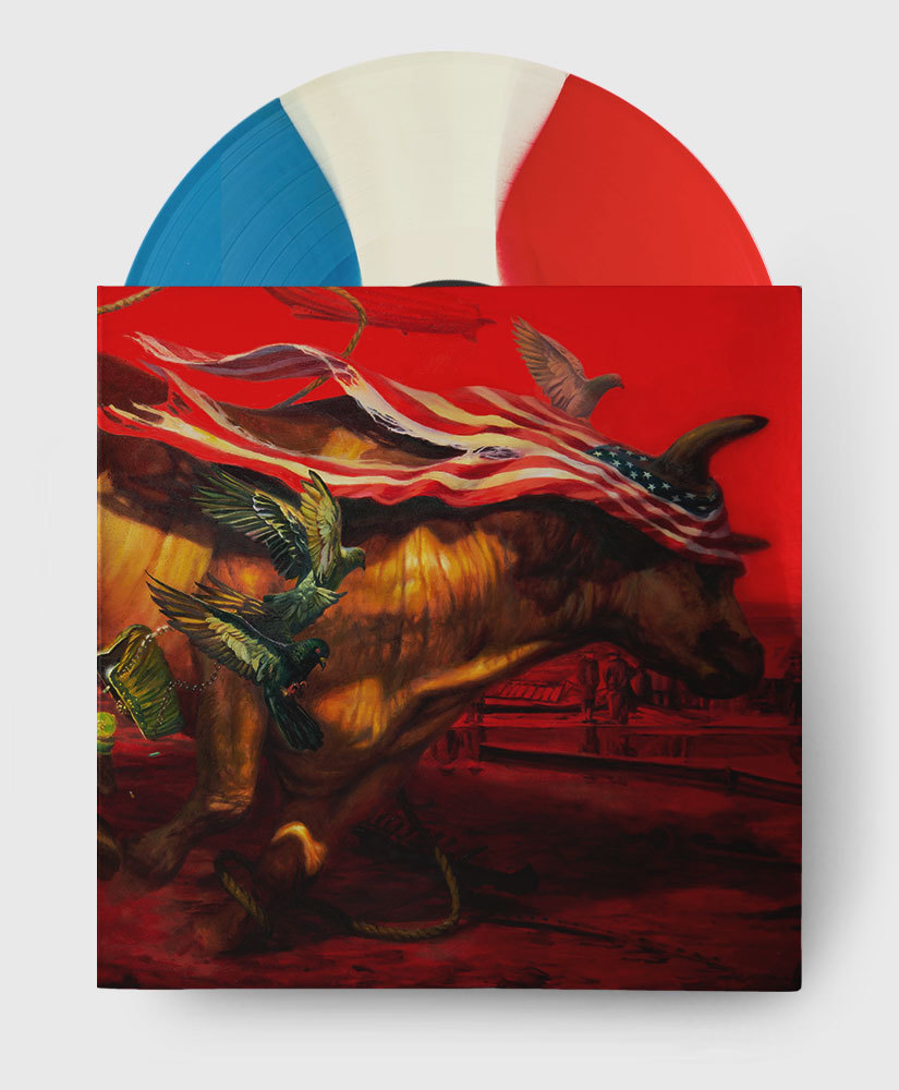 Protest The Hero - Palimpsest - Red, White + Blue Tricolour Vinyl