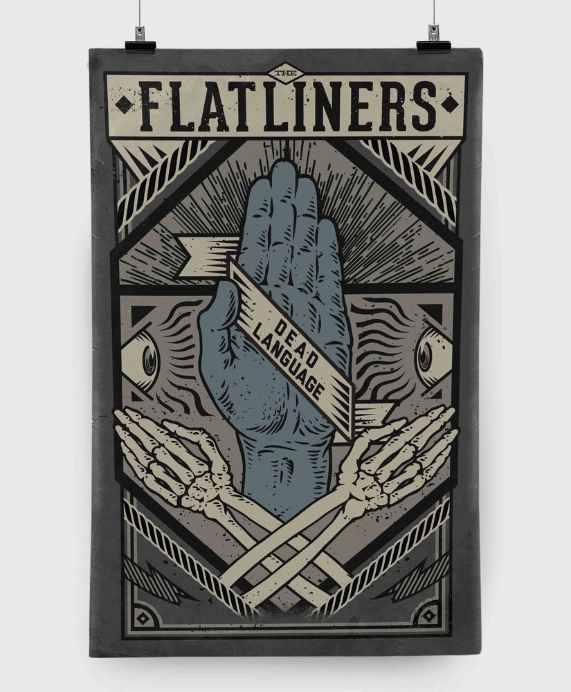 The Flatliners - Dead Language - 11x17 Print