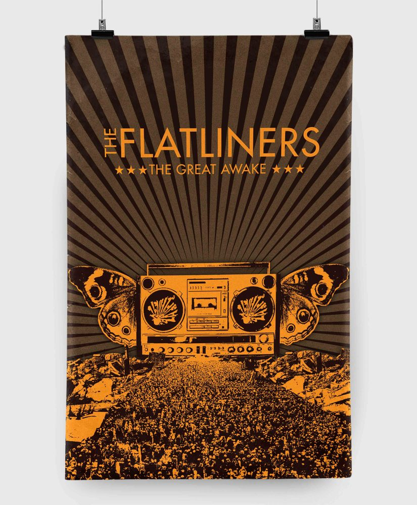 The Flatliners - The Great Awake - 11x17 Print