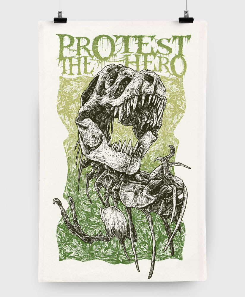 Protest The Hero - T-Rex - Limited Edition 11x17 Print