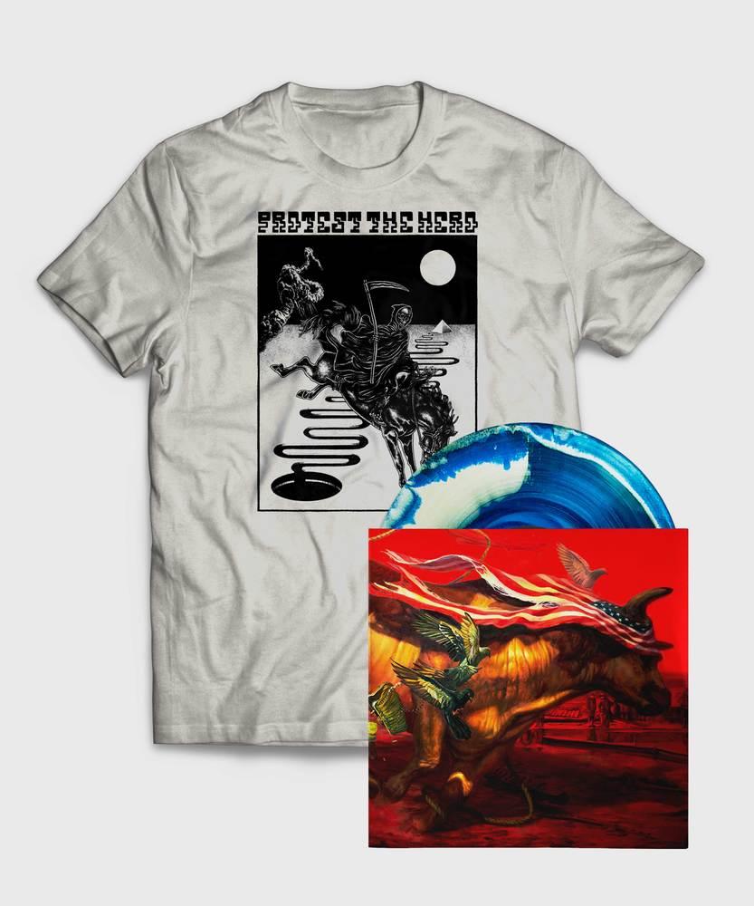 Protest The Hero - Vinyl + Death T-Shirt - Vinyl + Death Rides T-Shirt Bundle